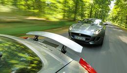Jaguar F-Type 3.0 V6 Coupé, Porsche Cayman S, Ausfahrt