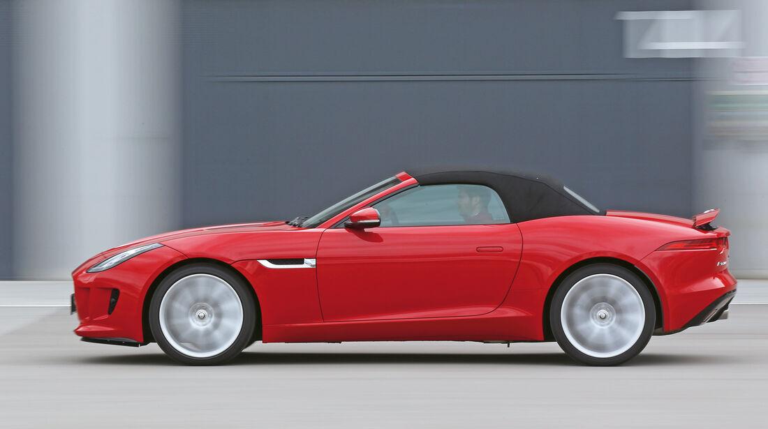 Jaguar F-Type, Seitenansicht