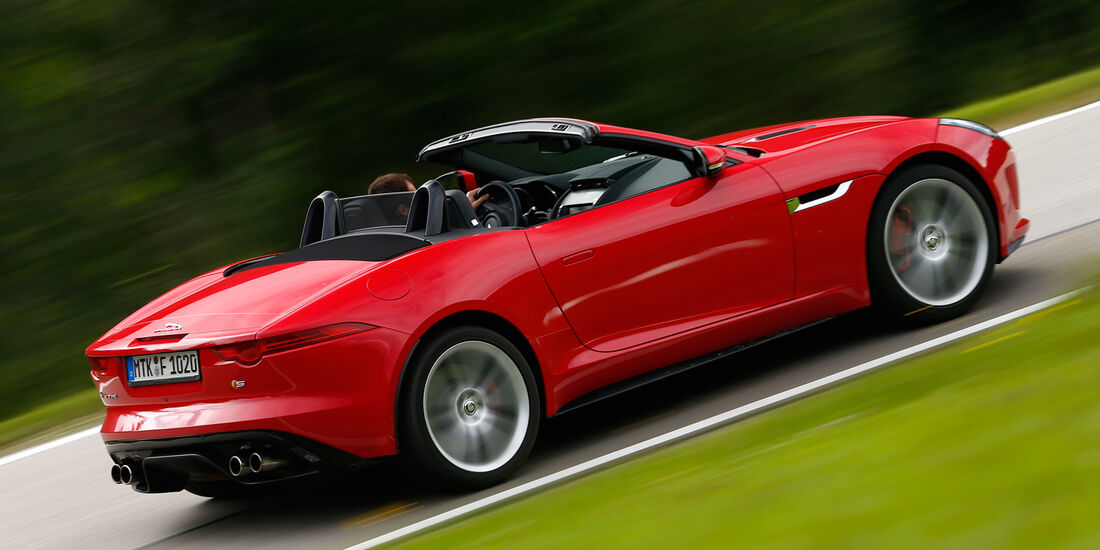 Jaguar F-Type V8 S, Seitenansicht