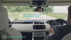 Jaguar Land Rover Technik Lernendes Auto Head-Up Display