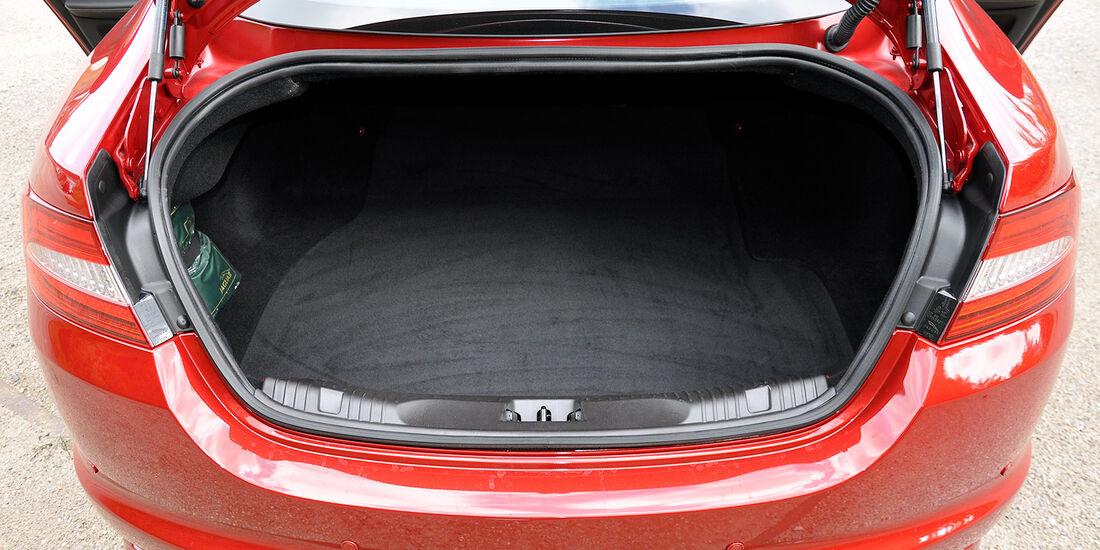 Jaguar XFR, Kofferraum