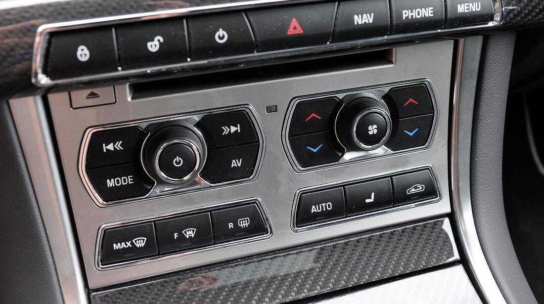 Jaguar XFR, Mittelkonsole, Bedienelemente