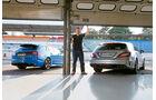 Jaguar XFR-S Sportbrake, Mercedes CLS 63 AMG S Shooting Brake, Heckansicht
