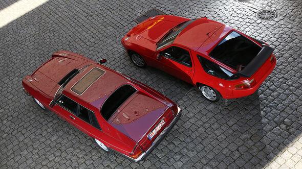 Jaguar XJ-S, Porsche 928 GT, Draufsicht
