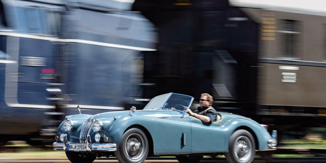 Jaguar XK 140, Seitenansicht