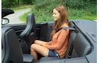 Jaguar XKR-S Cabrio, Rücksitz, Beinfreiheit