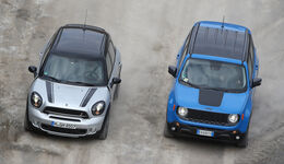 Jeep Renegade, Mini Countryman, Draufsicht