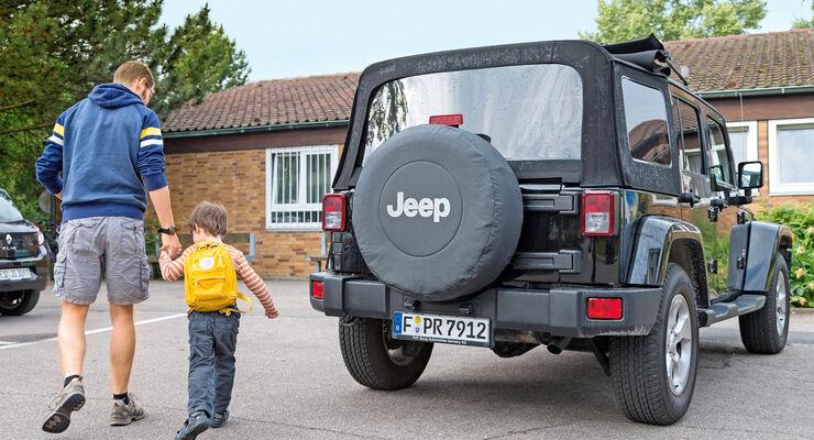 Jeep Wrangler Unlimited 3.6 V6 Sahara, Heckansicht