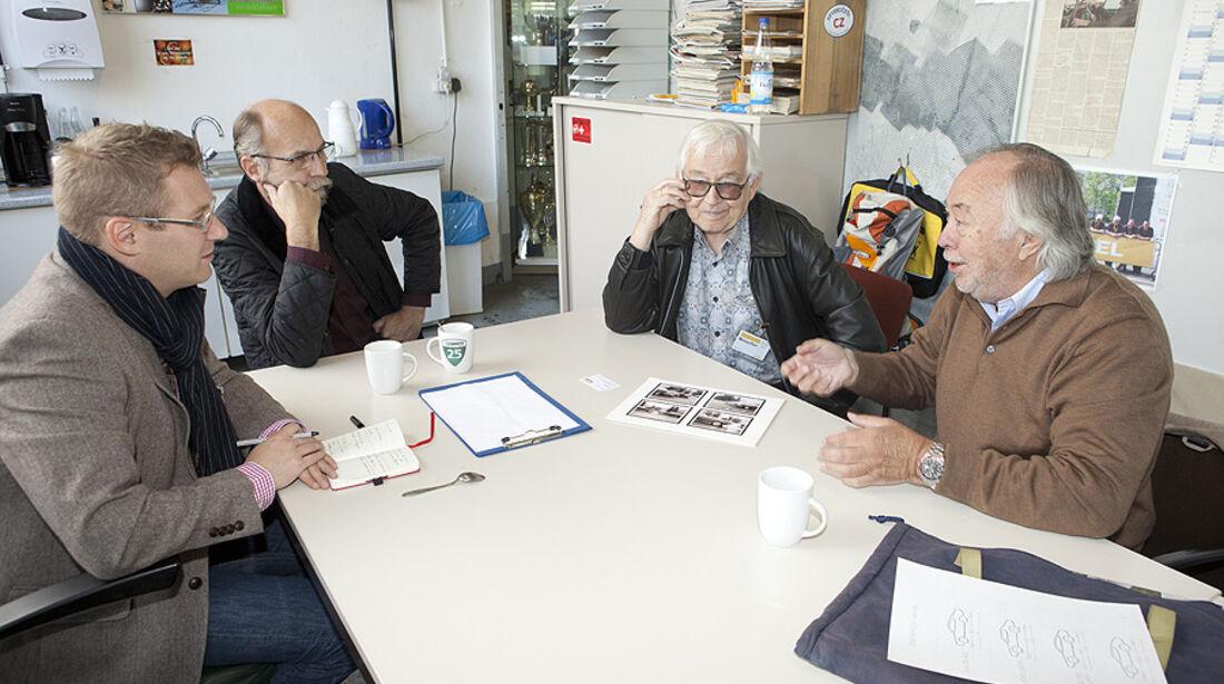 Jens Katemann, Wolfgang Scholz, Erhard Schnell und George Gallion