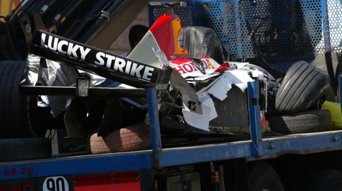 Jenson Button GP Monaco 2003 Crash
