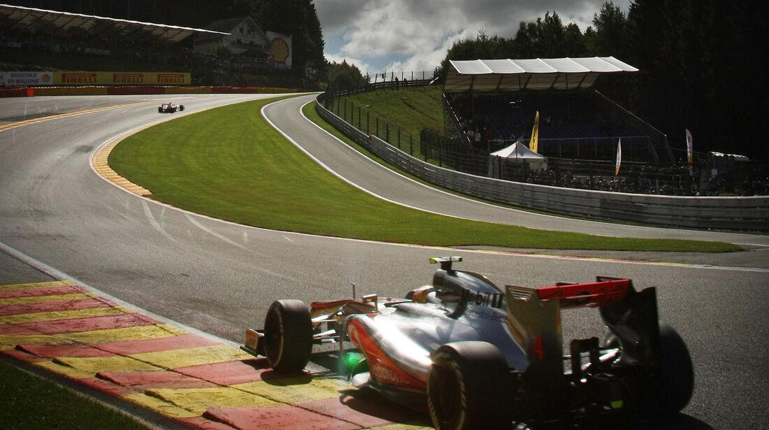 Jenson Button - McLaren - Formel 1 - GP Belgien - Spa-Francorchamps - 1. September 2012