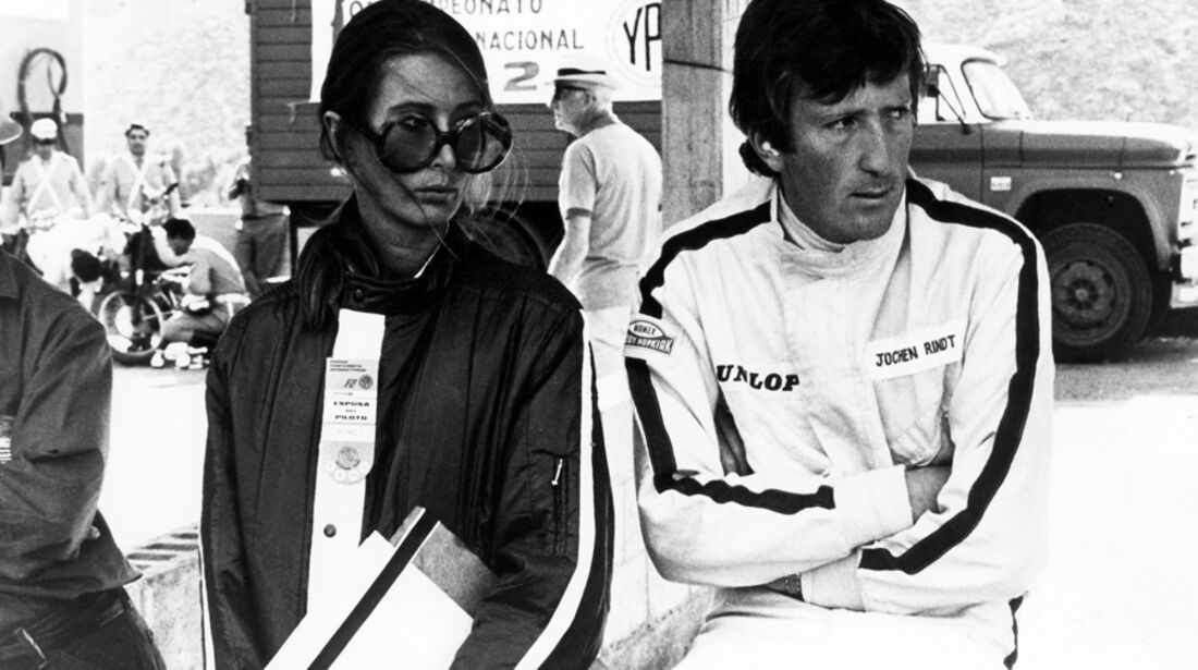 Jochen Rindt mit Frau Nina