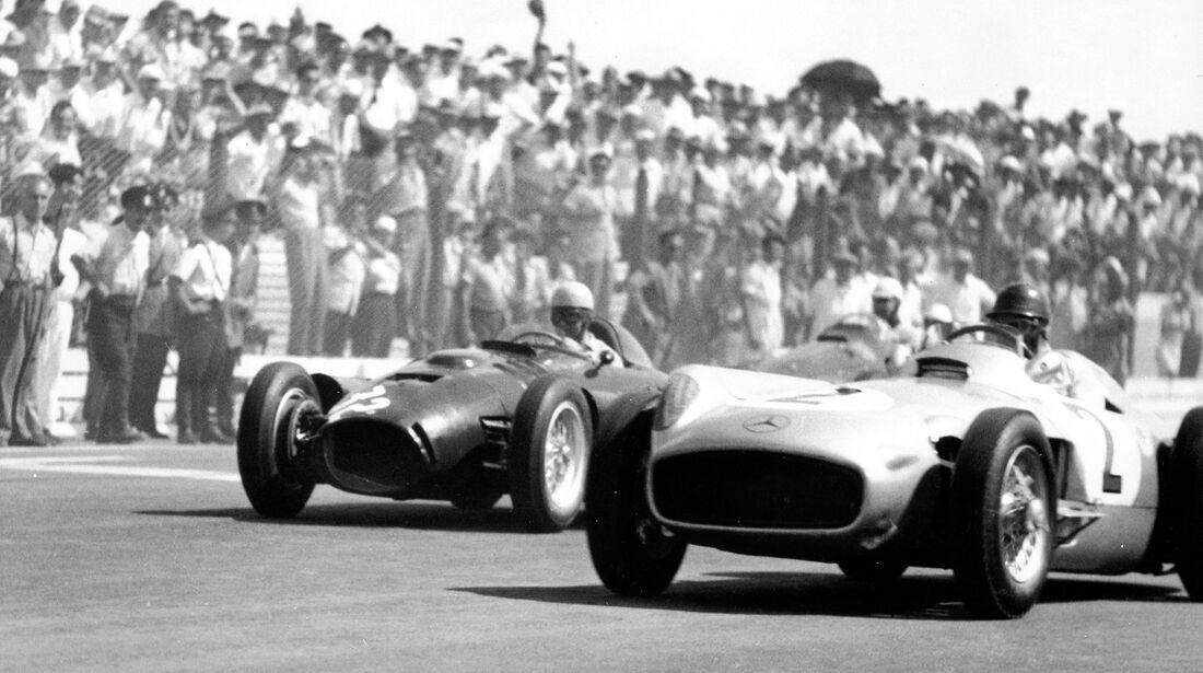 Juan Manuel Fangio - Mercedes-Benz W 196 R - Alberto Ascari - Lancia D 50 - GP Argentinien 1955 - Buenos Aires