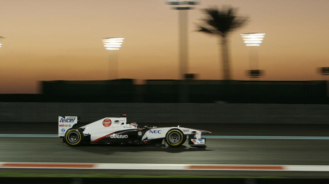 Kamui Kobayashi GP Abu Dhabi 2011