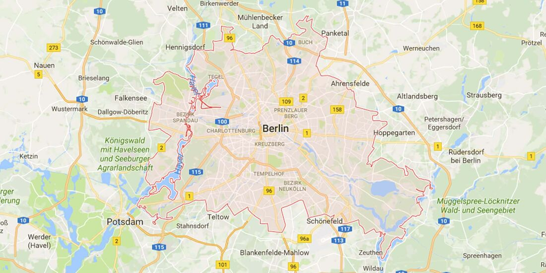 Karte Berlin