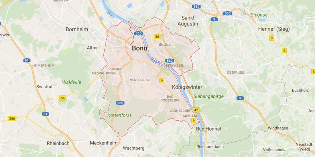 Karte Bonn