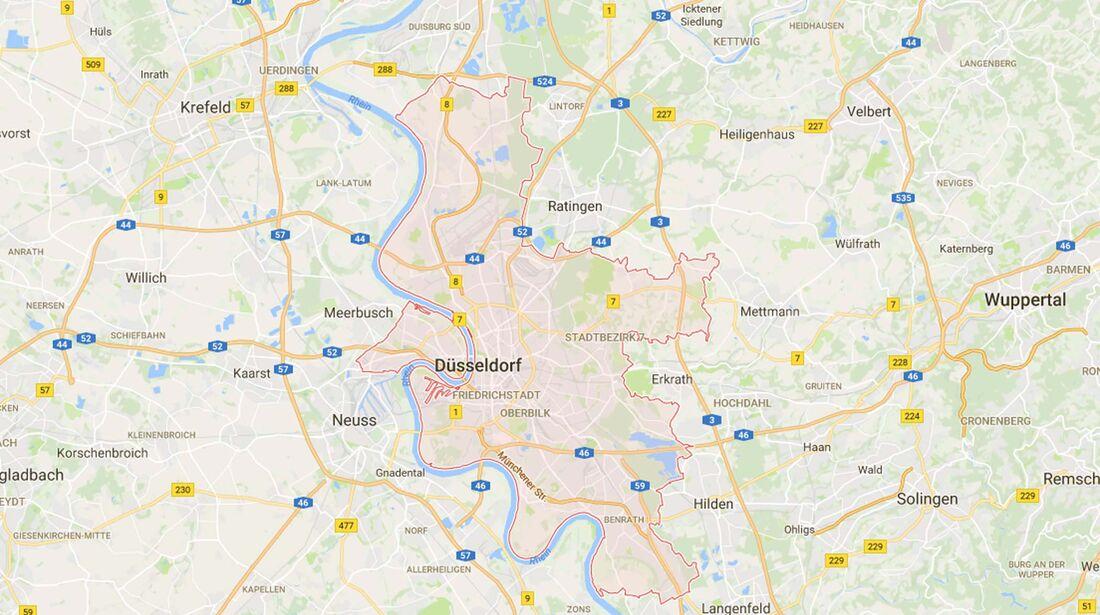 Karte Düsseldorf