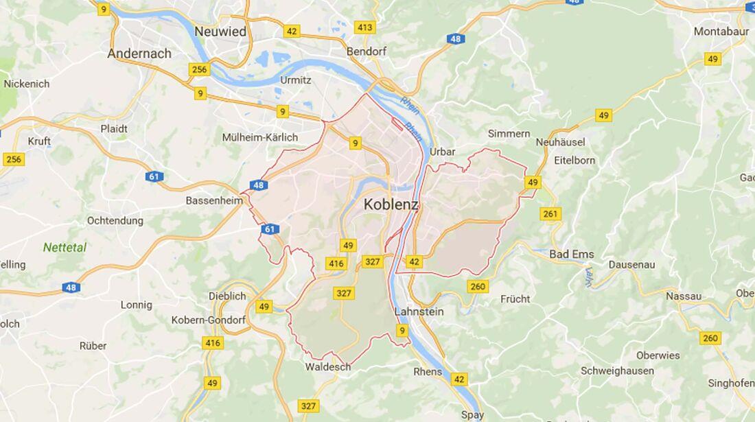 Karte Koblenz