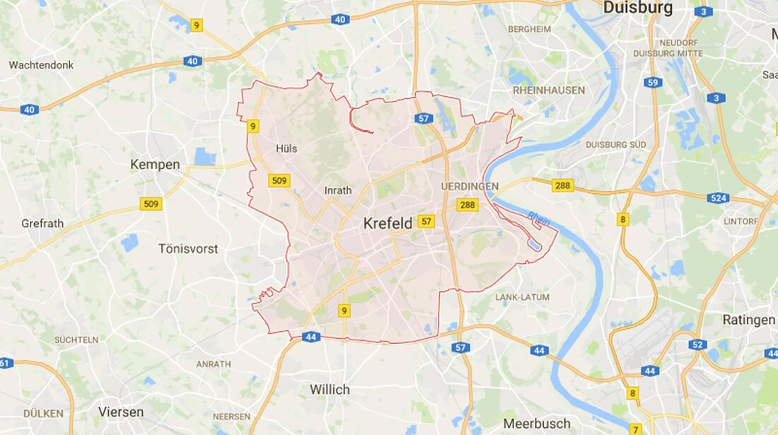 Karte Krefeld