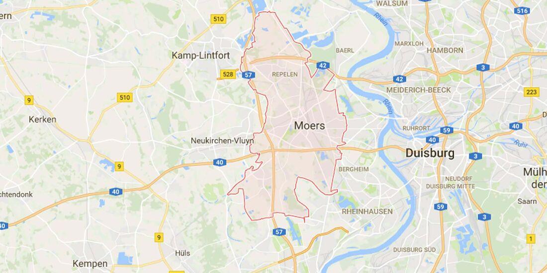 Karte Moers