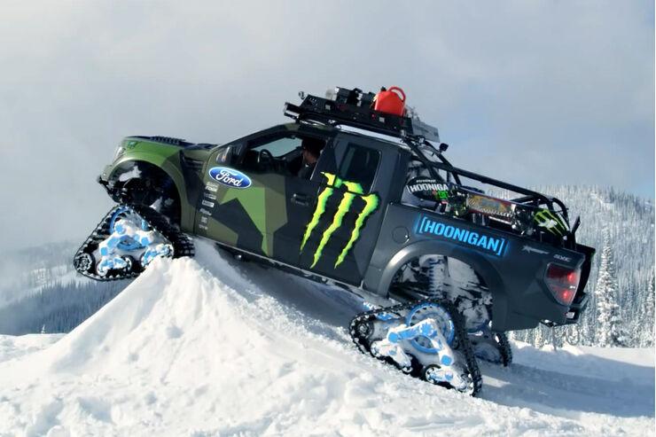 Ford F150 Raptor Trax 2014 Grat Wanderung Mit Monster