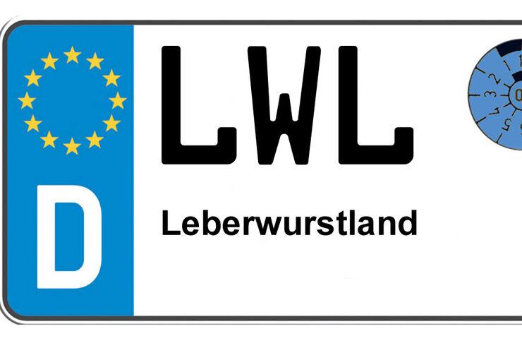 Autokennzeichen Hwi