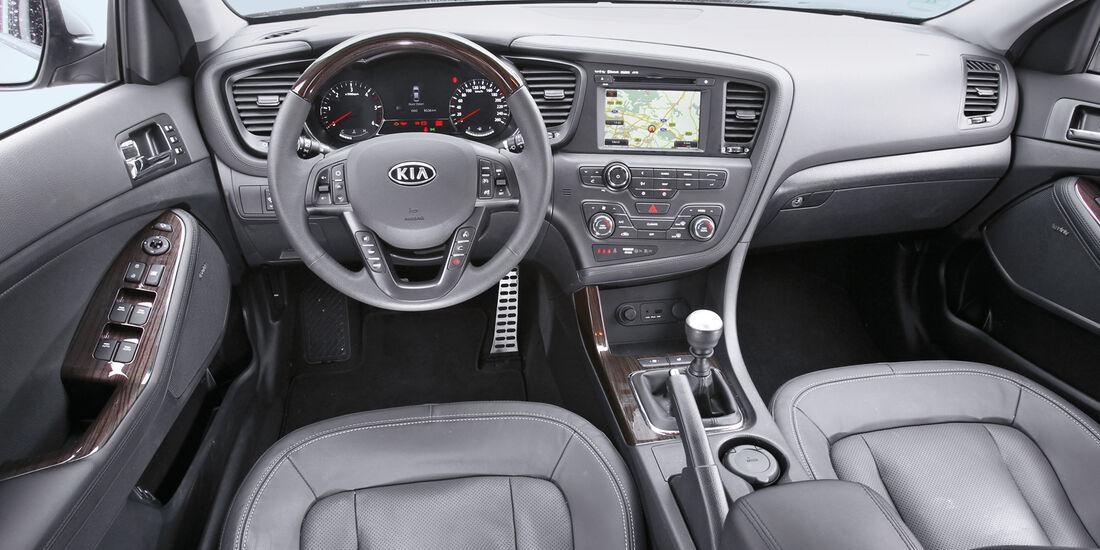 Kia Optima 1.7 CRDi Spirit, Cockpit