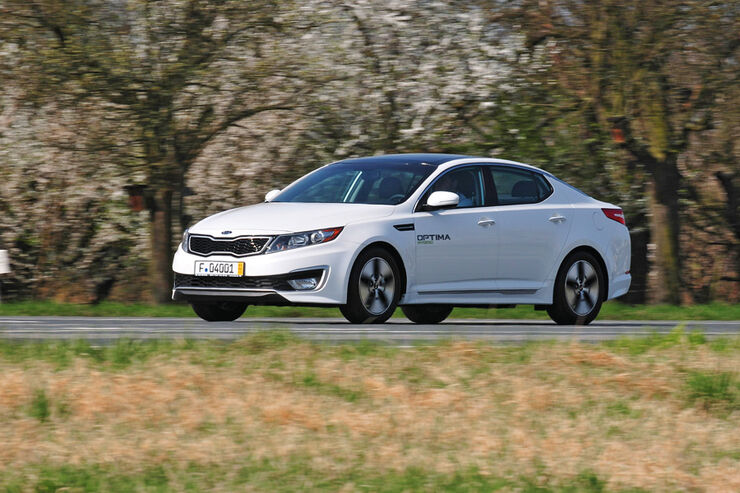 Kia Optima Hybrid, Front seitlich