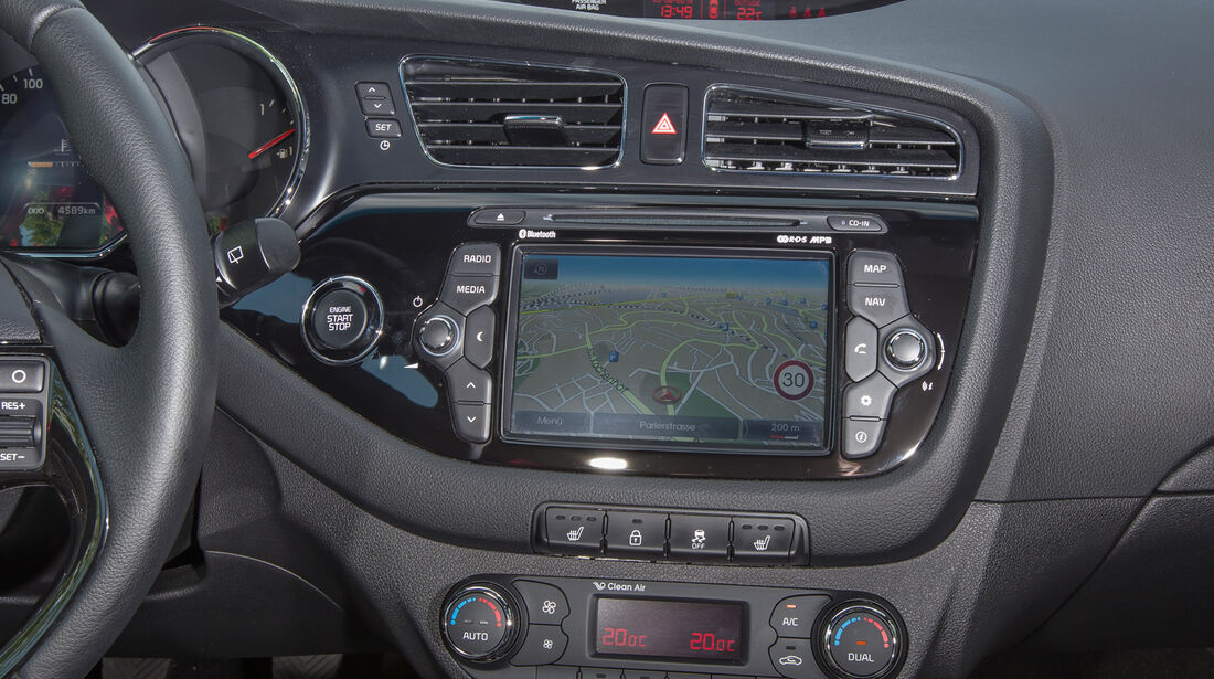 Kia Procee'd 1.6 GDI, Navi, Bildschirm