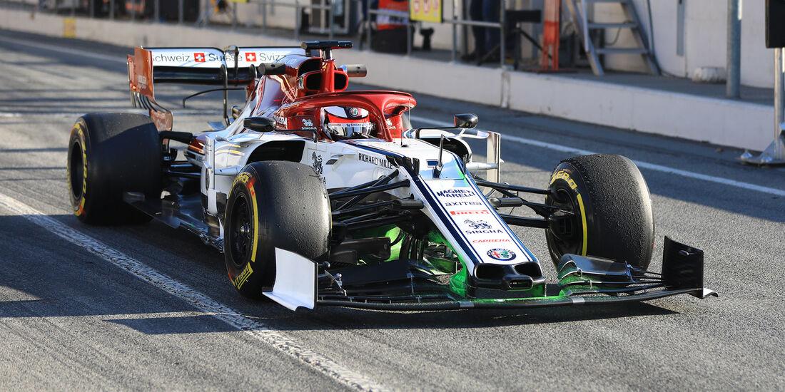 Kimi Räikkönen - Alfa Romeo - Barcelona - F1-Test - 27. Februar 2019