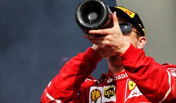 Kimi Räikkönen - Champagner - F1 2017