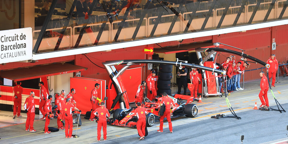 Kimi Räikkönen - Ferrari - F1-Test - Barcelona - Tag 6 - 7. März 2018