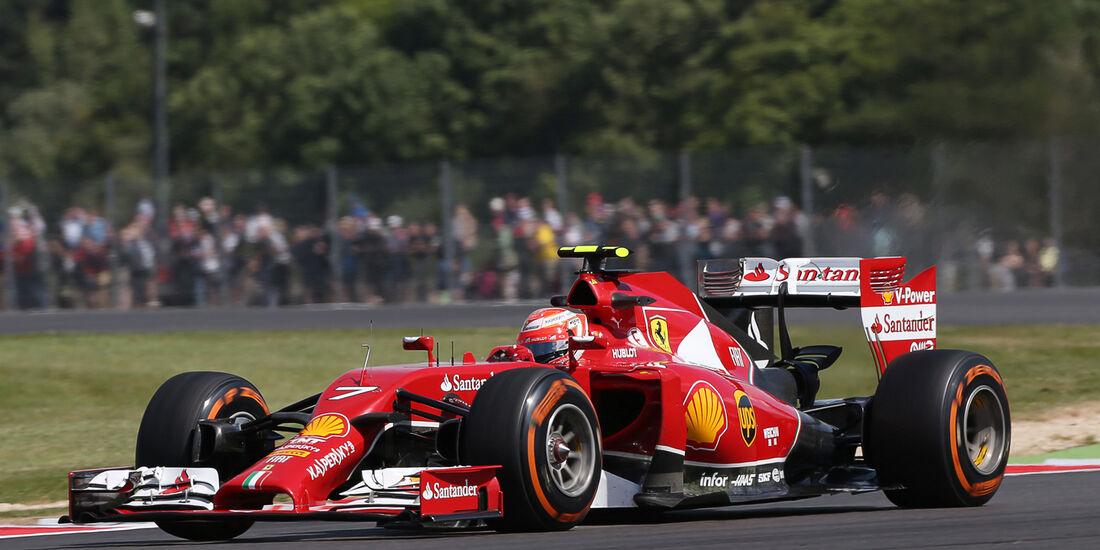 Kimi Räikkönen - Ferrari - Formel 1 - GP England  - Silverstone - 4. Juli 2014