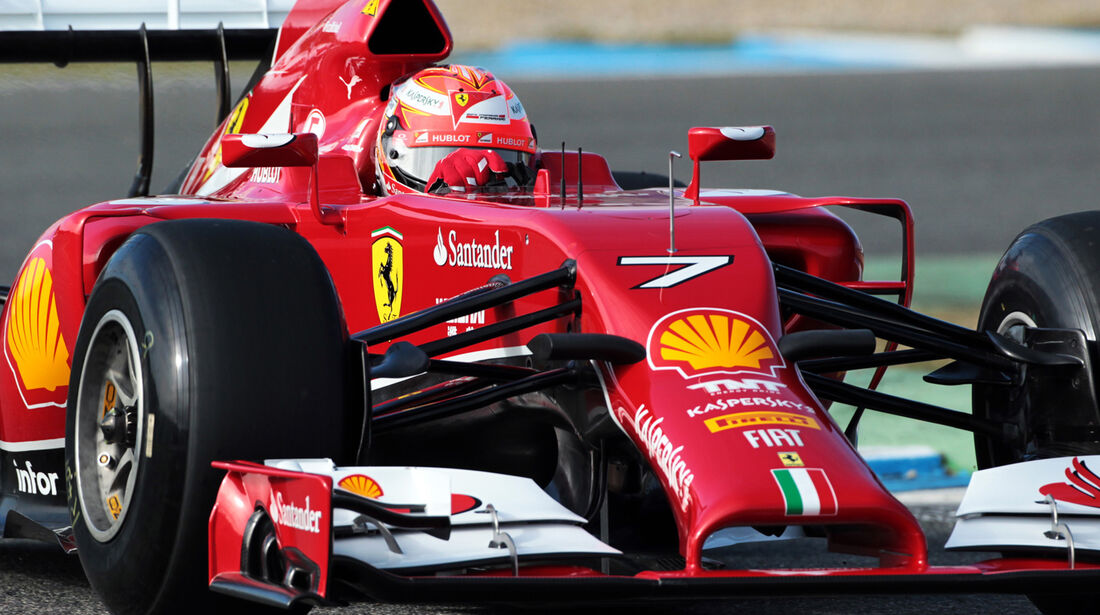 Kimi Räikkönen - Ferrari - Formel 1 - Test - Jerez - 28. Januar 2014