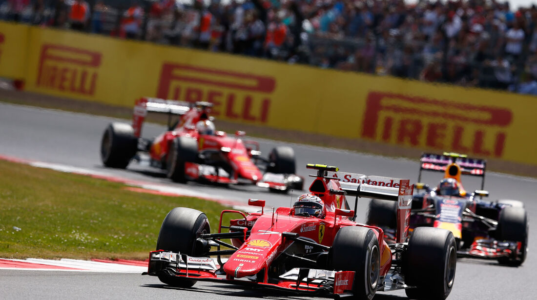 Kimi Räikkönen - Ferrari - GP England - Silverstone - Rennen - Sonntag - 5.7.2015