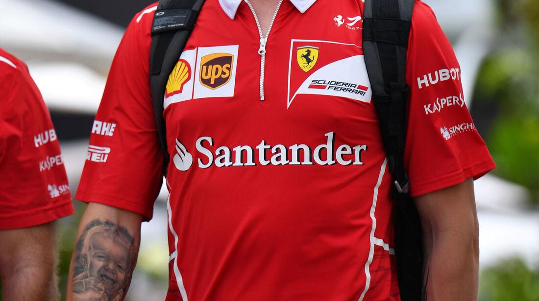 Kimi Räikkönen - Ferrari - GP Singapur - Formel 1 - Donnerstag - 14.9.2017