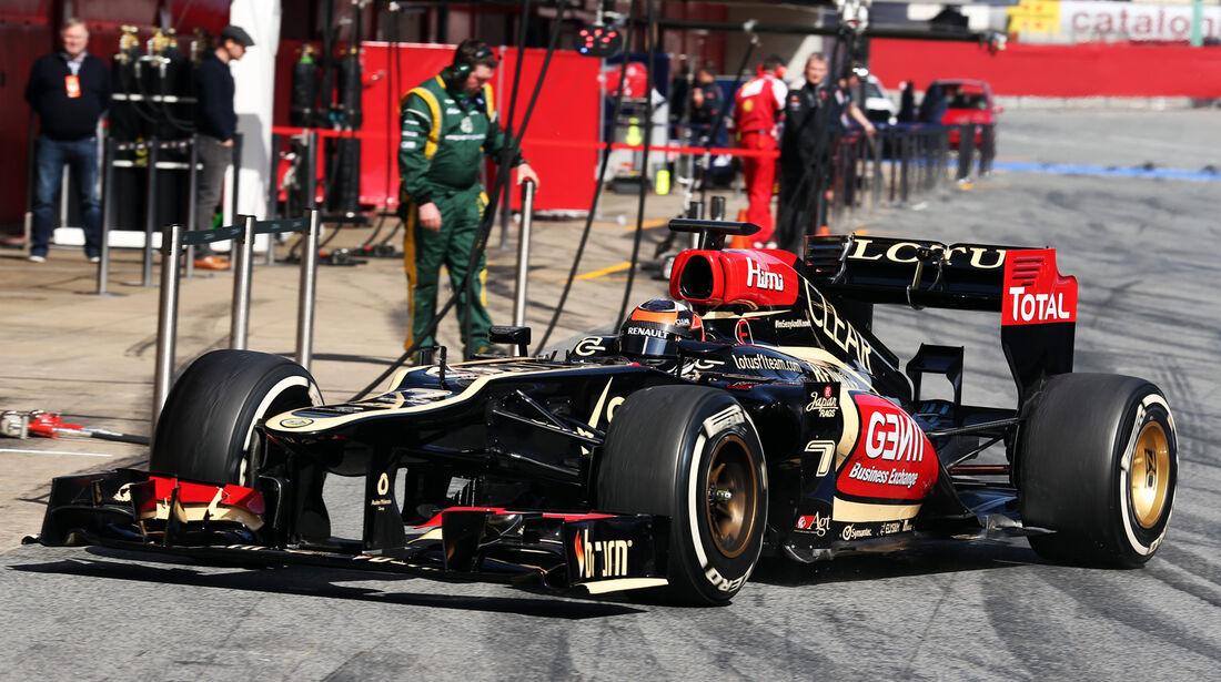 Kimi Räikkönen - Lotus - Formel 1 - Test - Barcelona - 3. März 2013