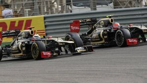 Kimi Räikkönen - Romain Grosjean  - Formel 1 - GP Bahrain - 22. April 2012
