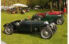 Klasse der Vorkriegs Rennwagen mit Squire 1500 SC (1935) bei der Villa Erba Villa d'Este 2010.