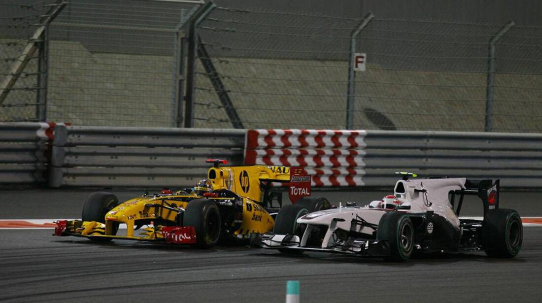 Kobayashi Kubica GP Abu Dhabi 2010