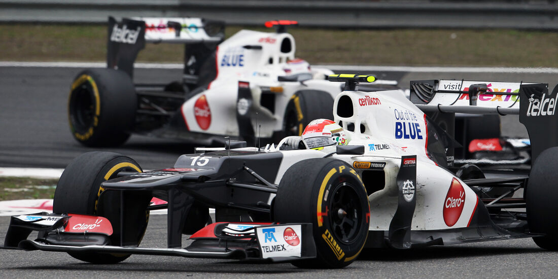 Kobayashi Perez Sauber 2012 GP China