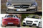 Konzeptvergleich Mercedes SLK, BMW Z4, Audi TT, Aufmacher