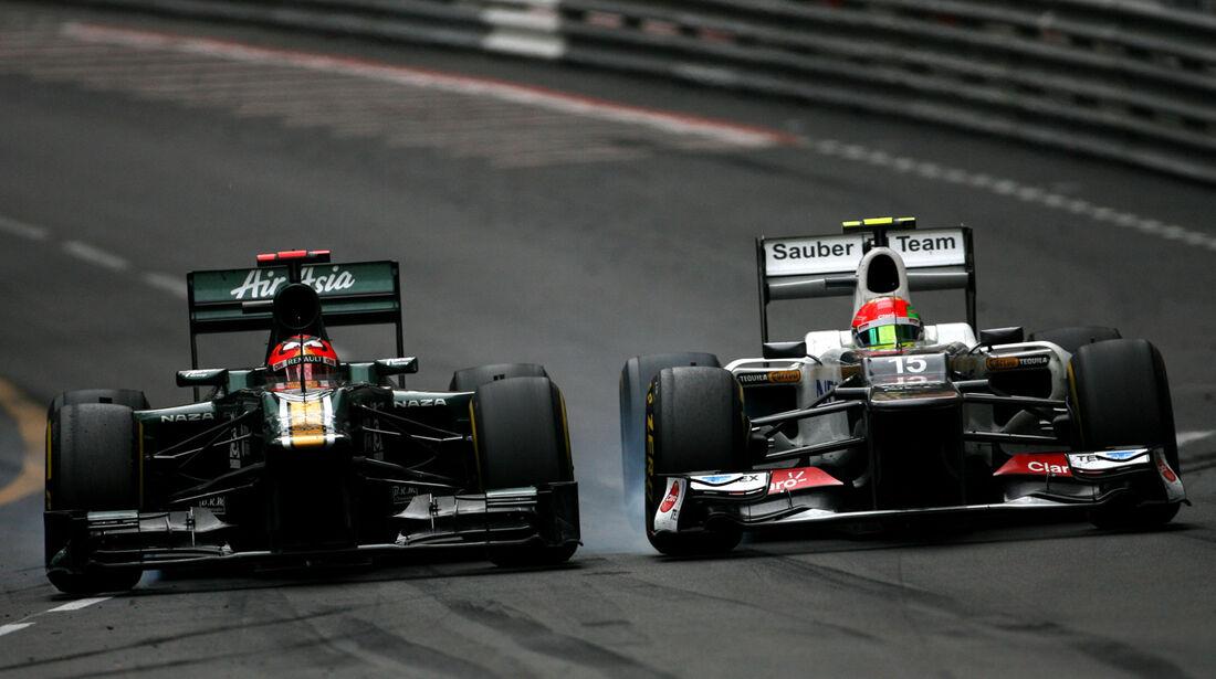 Kovalainen vs. Perez - GP Monaco 2012