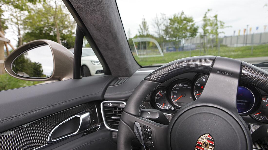 Kurvensicht, Porsche Panamera