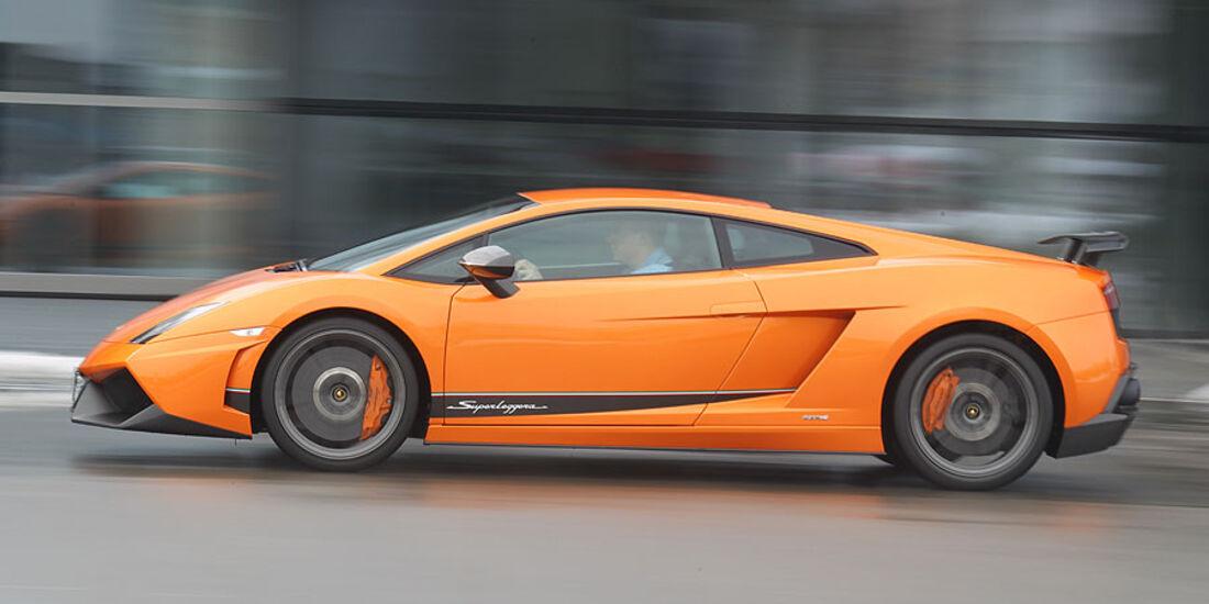 Lamborghini Gallardo LP 570-4 Superleggera - Fahrtaufnahme Seitenansicht
