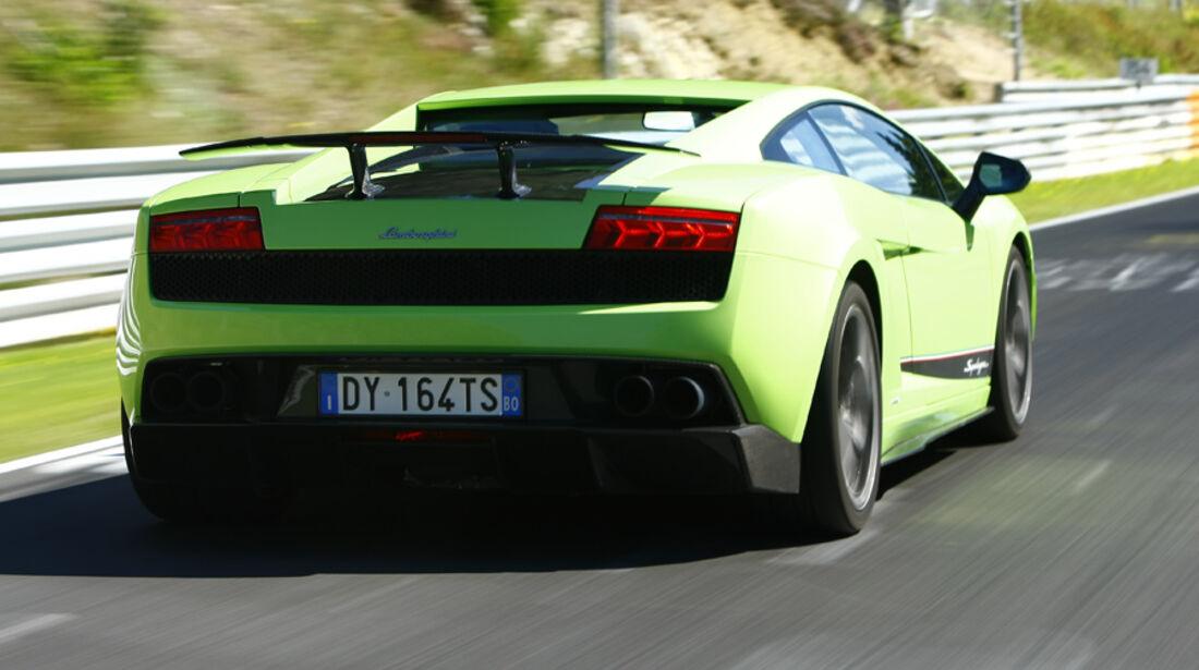 Lamborghini Gallardo LP 570-4 Superleggera, Rückansicht, Teststrecke