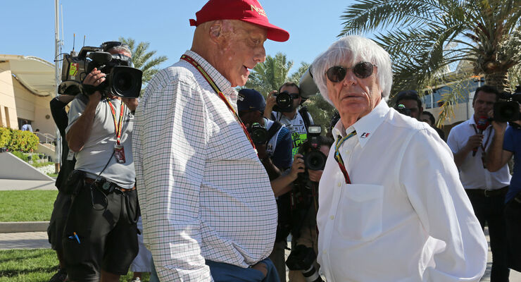 Lauda & Ecclestone - Formel 1 - GP Bahrain 2014