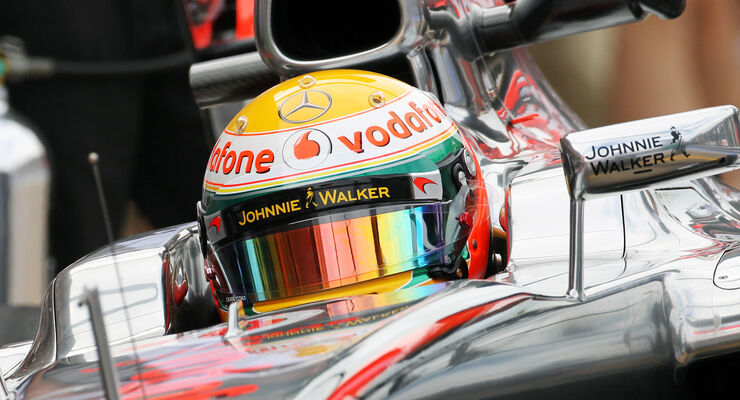 Lewis Hamilton Helm 2012 Cockpit