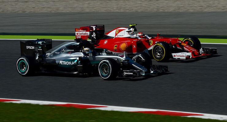 Lewis Hamilton - Kimi Räikkönen - GP Spanien 2016 - Freitag - 13.5.2016