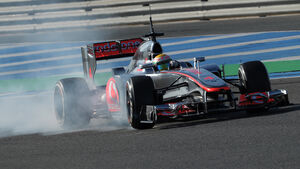 Lewis Hamilton McLaren Jerez Test F1 2012